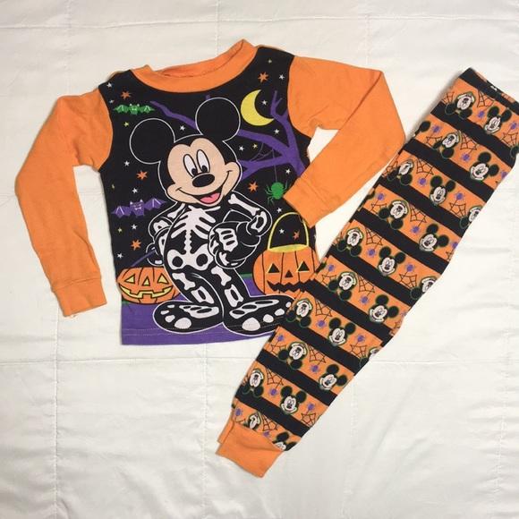 mickey mouse halloween pajamas size 3t